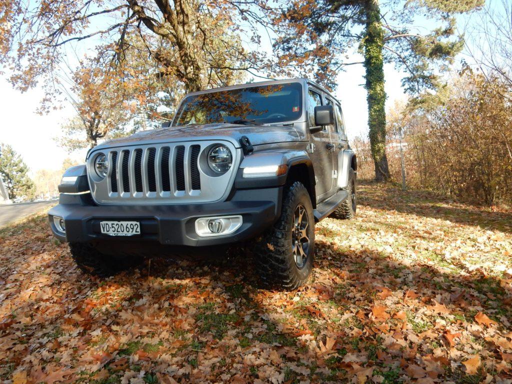 Jeep Wrangler en foret